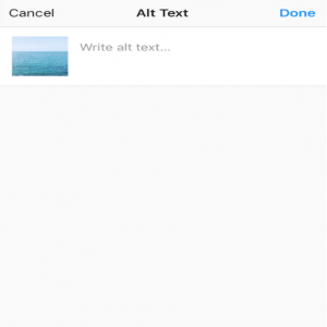 write your instagram alt text now
