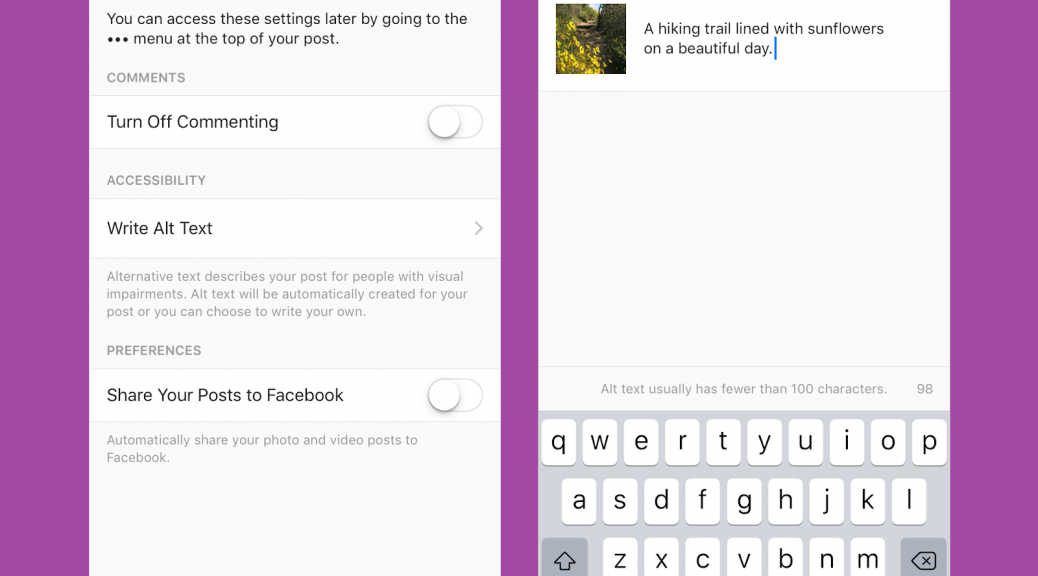 how to use Instagram alt text