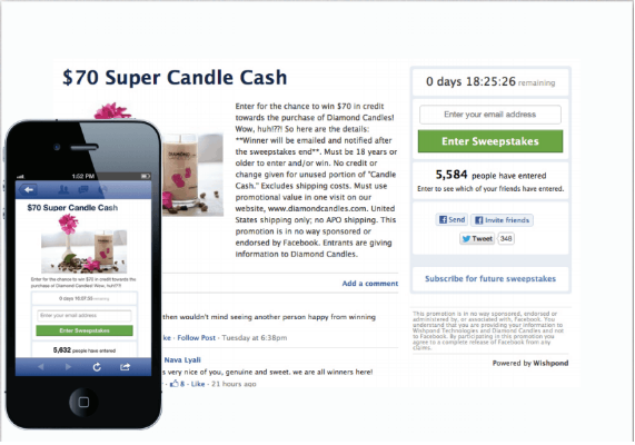 earn cach by social media contests