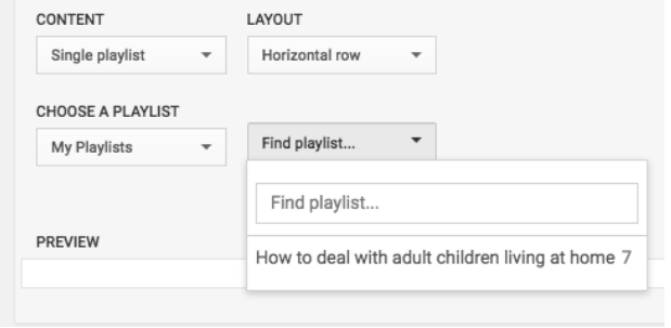 playlists settings on youtube account