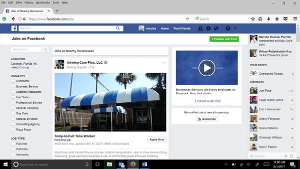البحث عن وظائف عبر ميزة الفيس بوك الجديدة